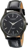 Akribos XXIV Men's AK539BK Stainless Steel Swiss Quartz Strap Watch