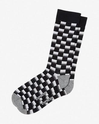 Express Square Print Dress Socks