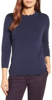 Halogen Women's Scallop Edge Sweater