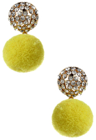 Amrita Singh Crystal Pom Pom Drop Earrings