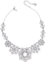 Kate Spade Silver-Tone Lacy Crystal Collar Necklace