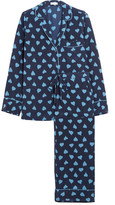 Equipment Avery Printed Washed-silk Pajama Set - Bright blue