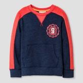 Cat & Jack Toddler Boys' Sweatshirt Heather Navy Voyage