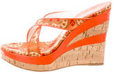 Casadei Jacquard Wedge Sandals
