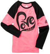 adidas Girls 4-6x) Love Color Block Raglan Tee