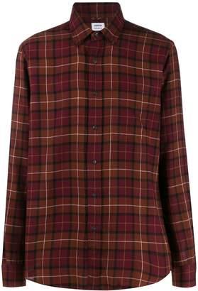 Aspesi checked long sleeved shirt