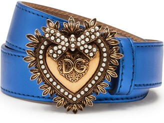 Dolce & Gabbana Logo-Buckle Metallic Belt