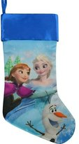 """Disney 2015 Frozen Elsa Anna and Olaf Silky 20"""" Satin Fully Printed Stocking"""