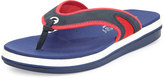 Tommy Bahama Jaxsen Suede Thong Sandal, Navy/Red