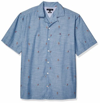 Tommy Hilfiger Men's Size Big and Tall Button Down Short Sleeve Shirt