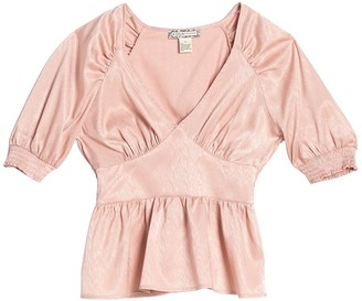 Endless Rose Satin Yoke Waist Top