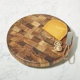 Crate & Barrel Round End-Grain Cutting Board