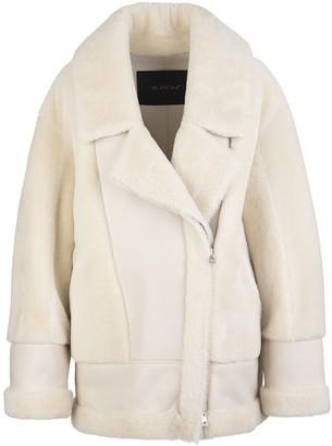 Blancha Ivory Merino Wool Woman Straight Jacket