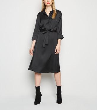 New Look JDY Satin Midi Shirt Dress