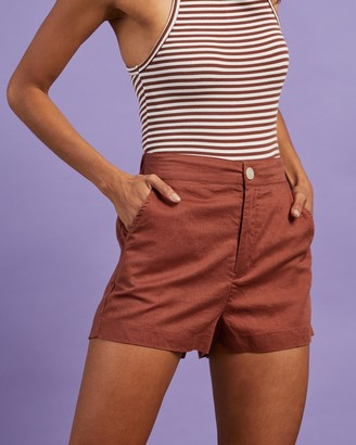Nude Lucy Selma Linen Shorts