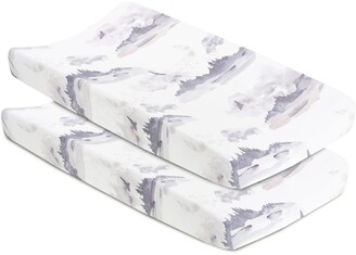 Oilo Misty Mountain 2-Pack Jersey Changing Pad Covers