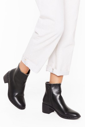 Nasty Gal Womens What Stud I Do Without You Faux Leather Boots - black - 3