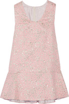 DELPOZO Metallic Jacquard Mini Dress - Baby pink