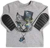 John Galliano Tiger Print Cotton Jersey T-Shirt