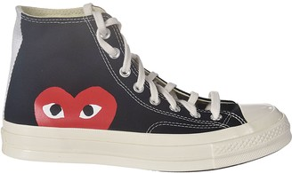Comme des Garcons Heart Side Print Hi-top Sneakers