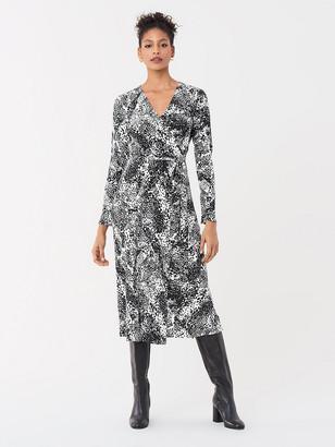 Diane von Furstenberg Tilly Silk Crepe de Chine Midi Wrap