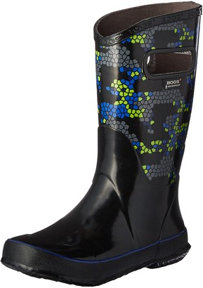 Bogs Kids' Axel Rain Boot Black/Multi 9 M US Toddler