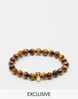 Reclaimed Vintage Inspired Skull Beaded Bracelet