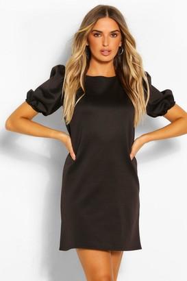 boohoo Puff Sleeve Shift Dress