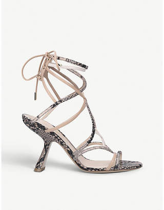 Nicholas Kirkwood Selina snake-embossed leather sandals