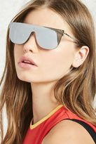 Forever 21 FOREVER 21+ Mirrored Shield Sunglasses
