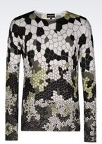 Emporio Armani Runway Sweater In Virgin Wool