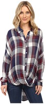 Brigitte Bailey Tana Long Sleeve Plaid Top