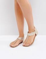 Oasis Leather Pisa Braid Toepost Sandal