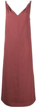 Brunello Cucinelli Sleeveless Fluid Midi Dress