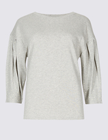 Limited Edition Pure Cotton Round Neck Pearl Sleeve T-Shirt