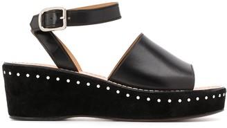 J&M Davidson Stud-Embellished Wedge Sandals