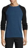 Theory Savaro Breach Thermal Shirt, Blue/Black