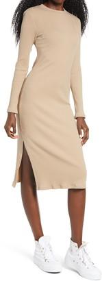 Ten Sixty Sherman Ribbed Long Sleeve Midi Dress