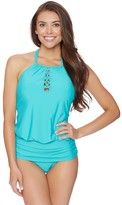 Athena Cabana Solids Cailyn High Neck Tankini Top