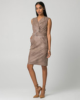 Le Château Suede-Like Belted Shirtdress