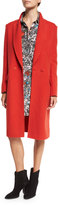 Cédric Charlier Mid-Length Wool Coat, Red (Rosso)