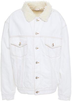 IRO Franz Oversized Faux Shearling-lined Denim Jacket
