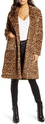 Mural Faux Fur Leopard Coat