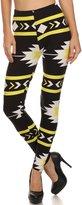 Always Black and Orange Neon Spandex Stretch Colorful Leggings