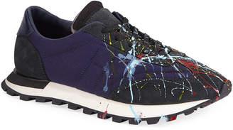 Maison Margiela Men's Paint Replica Lace-Up Trainer Sneakers