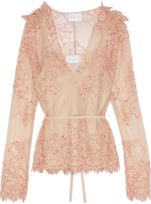 Alice McCall Let It Be Belted Lace Blouse