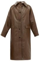 Kassl Editions - Vinyl-coated Linen-blend Coat - Womens - Brown Multi
