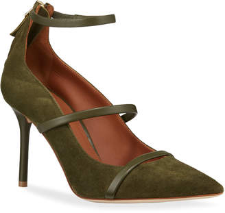 Malone Souliers Robyn Suede Pointed Pumps