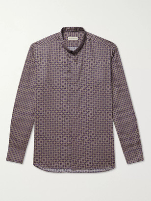 Etro Grandad-Collar Cotton Shirt