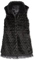 GUESS Lace Faux Fur Vest, Big Girls (7-16)